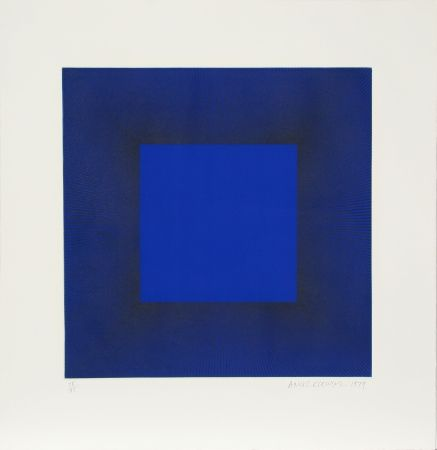 Aguafuerte Y Aguatinta Anuszkiewicz - Midnight Suite (Blue with Black)