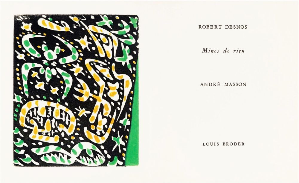 Libro Ilustrado Masson - MINES DE RIEN. 4 gravures originales en couleurs (1957).