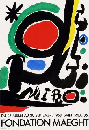 Cartel Miró - MIRO À LA FONDATION MAEGHT. Exposition de l'été 1968.