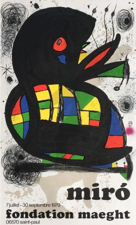 Cartel Miró - MIRO À LA FONDATION MAEGHT. Exposition de l'été 1979.