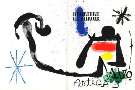 Libro Ilustrado Miró - MIRO - ARTIGAS, Terres de grand feu. Derrière le Miroir n° 139-140. Juin-Juillet 1963.