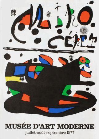 Cartel Miró - MIRO - CÉRET. Musée d'Art Moderne 1977. Affiche originale.