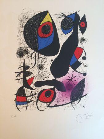 Litografía Miró - Miro a l'encre