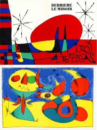 Litografía Miró - MIRO ARTIGAS: Terres de grand feu. DERRIÈRE LE MIROIR N°87-88-89. 1956.