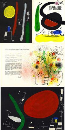 Litografía Miró - MIRO. L'OISEAU SOLAIRE, L'OISEAU LUNAIRE, ÉTINCELLES. Derrière Le Miroir n° 164-165. Avril-Mai 1967