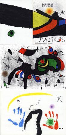 Libro Ilustrado Miró - MIRO. PEINTURES SUR PAPIER, DESSINS. DERRIÈRE LE MIROIR N°193-194. Novembre 1971.