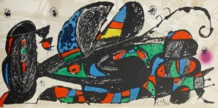 Litografía Miró - Miro sculpteur, Iran