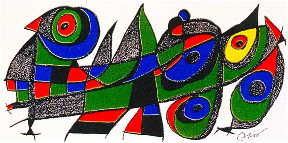 Litografía Miró - Miro Sculptor - Japan