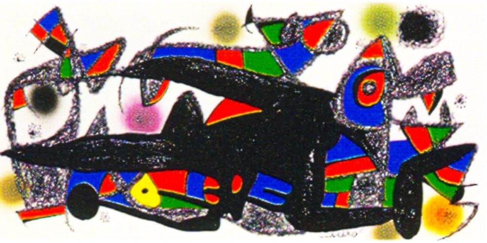 Litografía Miró -  Miro Sculptor -Denmark