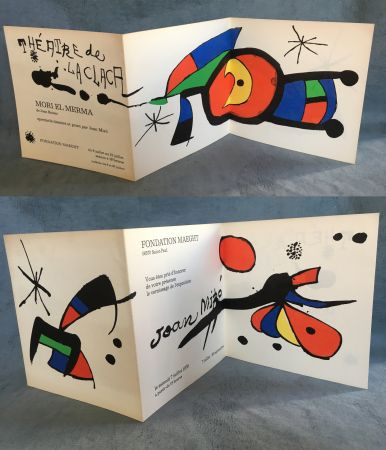 Litografía Miró - MIRO : Vernissage et MORI EL MERMA spectacle à la Fondation Maeght. 1979.