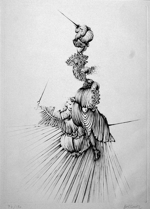 Aguafuerte Bellmer - Miroir de Songes