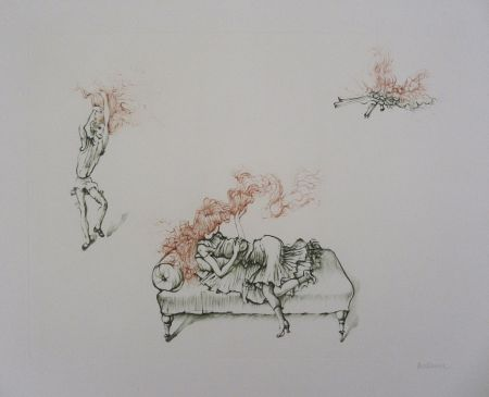 Grabado Bellmer - Miroir Des Songes Pl.12