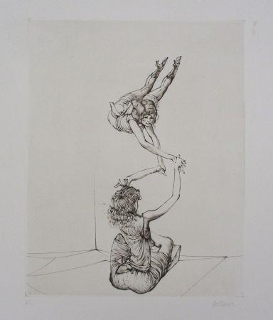Grabado Bellmer - Miroir des songes Pl.6