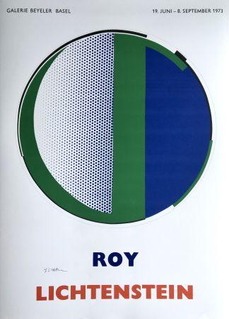 Serigrafía Lichtenstein - 'Mirror' Hand Signed Pop Art Poster Print 1973