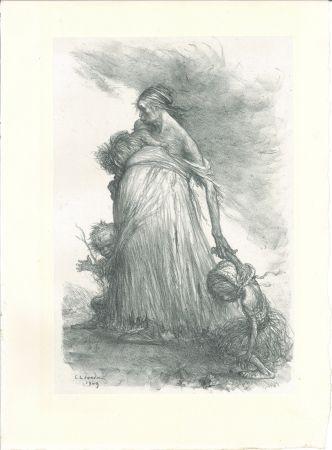 Litografía Léandre - Misère fertile — Sol stérile (Fertile Misery—Sterile Earth)