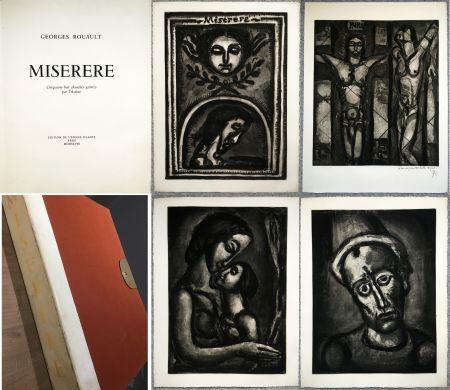 Libro Ilustrado Rouault - MISERERE. 58 gravures. La suite complète des 58 gravures. Éditions de l'étoile filante, 1948