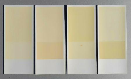 Litografía Calderara - Misura, luce, colore