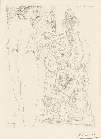 Aguafuerte Picasso - Modele et sculpture surrealiste