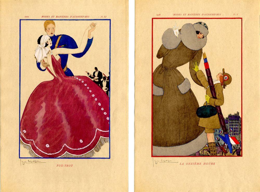 Libro Ilustrado Lepape - MODES ET MANIÈRES D'AUJOURD' HUI. Années de Guerre. 1914-1919