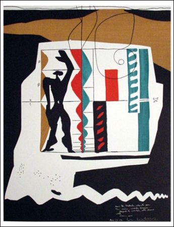 Litografía Le Corbusier - Modular (1962)
