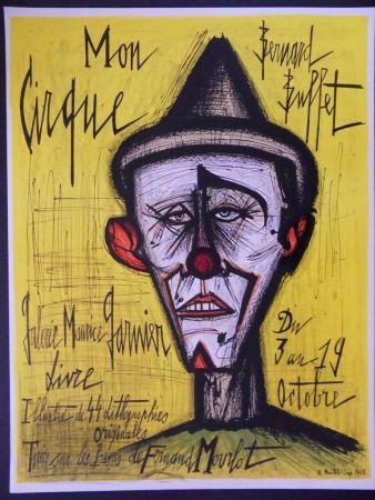 Litografía Buffet - Mon Cirque - Le Clown