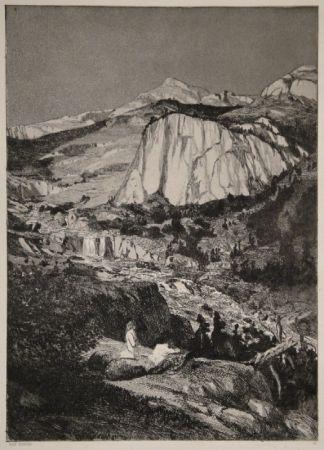 Aguafuerte Y Aguatinta Klinger - Mondnacht
