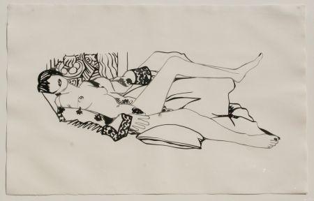 Aguafuerte Y Aguatinta Wesselmann - Monica Nude with Matisse