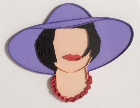 Múltiple Wesselmann - Monica with a Purple Hat (unique variation)