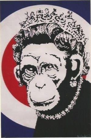 Serigrafía Banksy - Monkey Queen