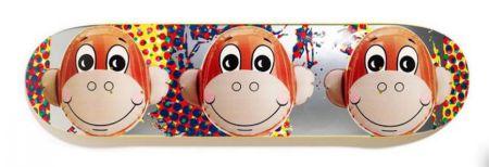 Serigrafía Koons - Monkey Train Skate Deck
