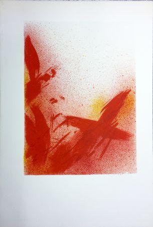 Litografía Bazaine - MONOGRAPHIE EN ROUGE (1975) sur vélin d'Arches.