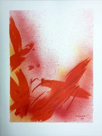 Litografía Bazaine - MONOGRAPHIE EN ROUGE (1975) sur vélin de Rives.