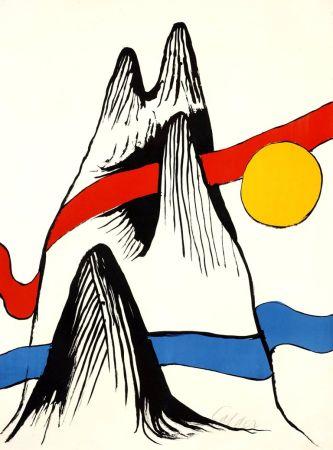Litografía Calder - Montagne et Soleil