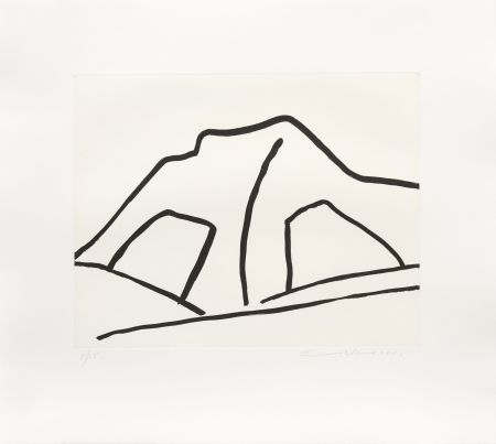 Grabado Adnan - Montagne I