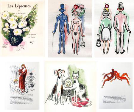 Libro Ilustrado Van Dongen - Montherlant. LES LÉPREUSES. 25 lithographies originales en couleurs (1947)