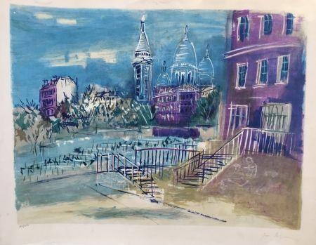 Litografía Dufy - Montmartre