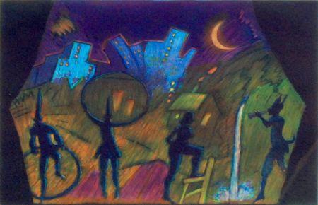 Aguafuerte Y Aguatinta Almaraz - Moonlight Theatre