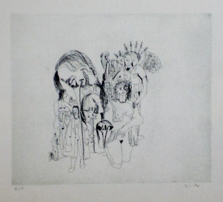 Aguafuerte Y Aguatinta Condo - More sketches of Spain-For Miles Davis 5