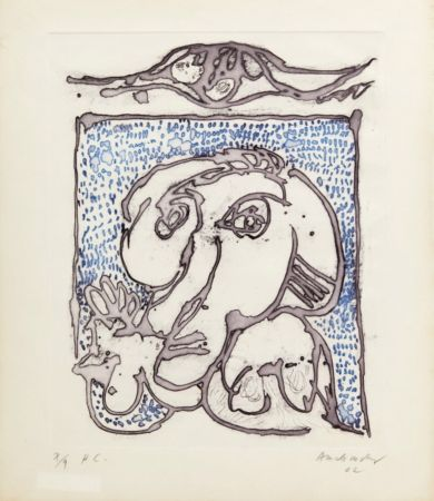 Aguatinta Alechinsky - Morsures VIII