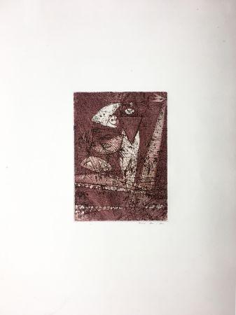Aguafuerte Y Aguatinta Ernst - MORT AUX VACHES ET AU CHAMP D'HONNEUR (1950).