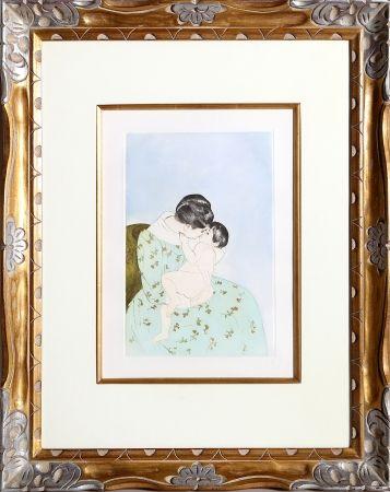 Grabado Cassatt - Mother's Kiss