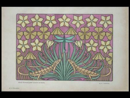 Litografía Verneuil - Motif décoratif pour coussin ou bande