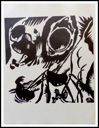 Grabado En Madera Kandinsky - MOTIV AUS IMPROVISATION - Jardin de l'amour