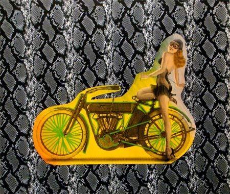 Serigrafía Kaufman - Motorbike on Snakeskin
