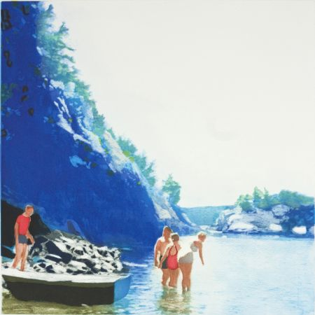 Aguatinta Greenfield-Sanders - Mountain Stream