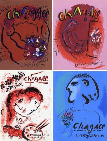 Libro Ilustrado Chagall - Mourlot & Sorlier : Chagall lithographe I à IV avec 28 lithographies originales.