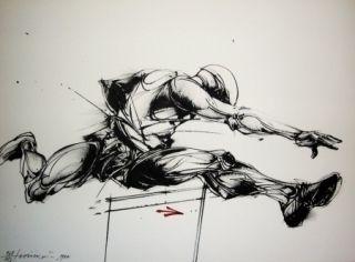 Litografía Velickovic - Mouvement