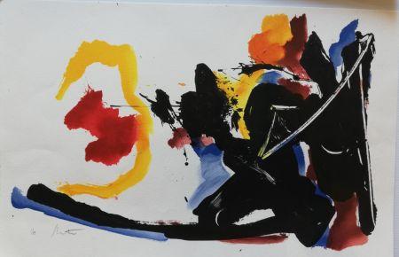 Litografía Miotte - Mouvement