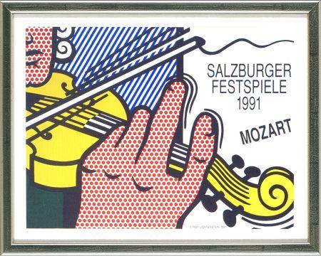 Litografía Lichtenstein - Mozart - Salzburg