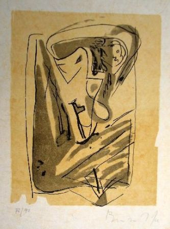 Litografía Van Velde - Mp 185